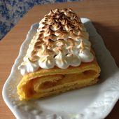 Bûche au citron meringuée - La cuisine de Rolly
