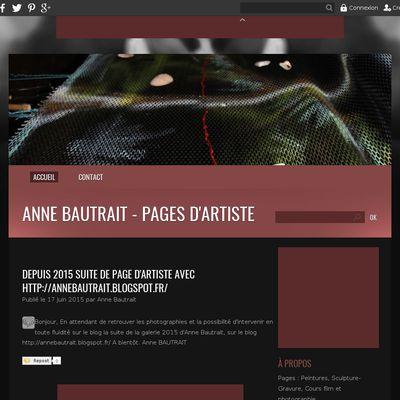 Anne Bautrait  - PAGES d'Artiste