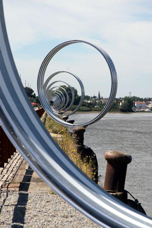 Les anneaux de Buren Quai des Antilles à Nantes - Photos Thierry Weber Photographe La Baule Guérande