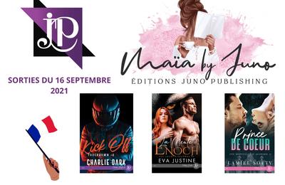 Parutions Juno Publishing du 16 septembre juin 2021 (MM et MF)