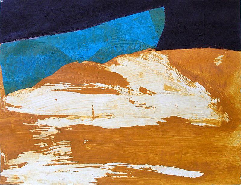 Peinture et collage de Jocelyne Colas