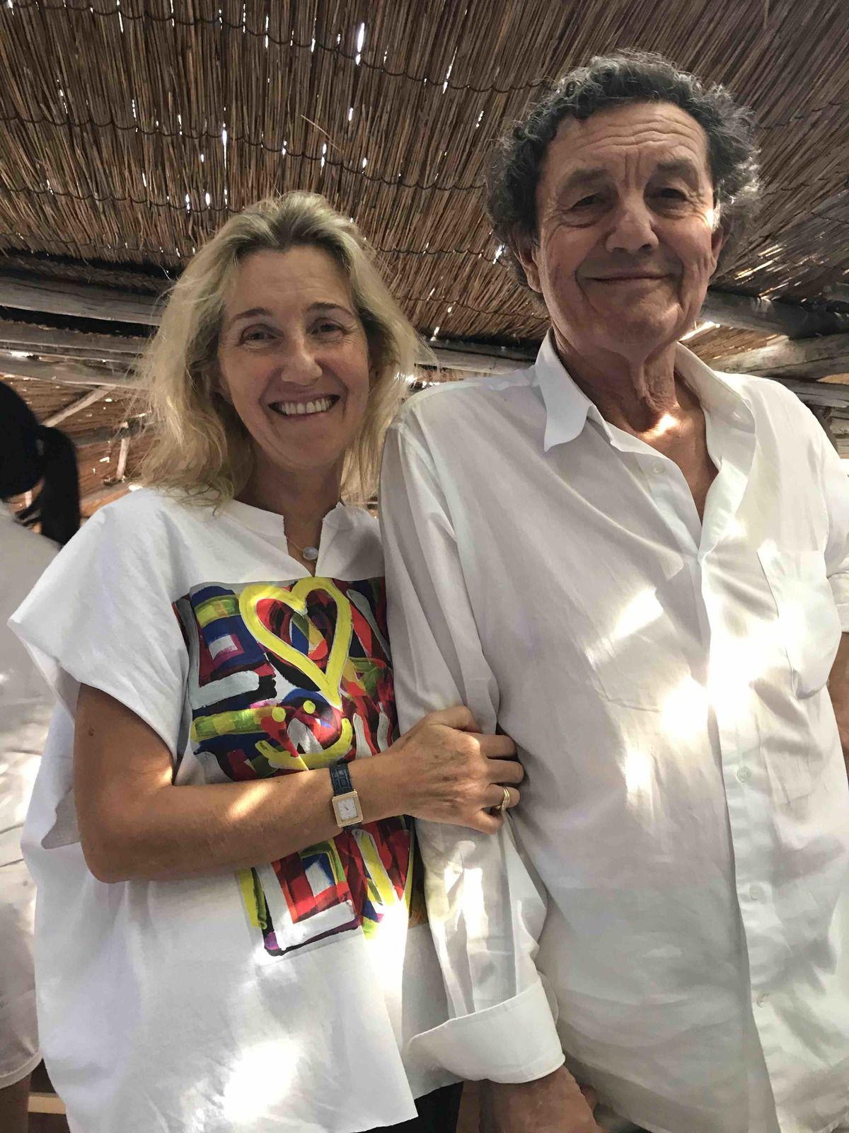 Patrice de Colmont - Sylvie Bourgeois Harel - Le Club 55 - Tee-shirt de Richard Poppitti que j'ai customisé