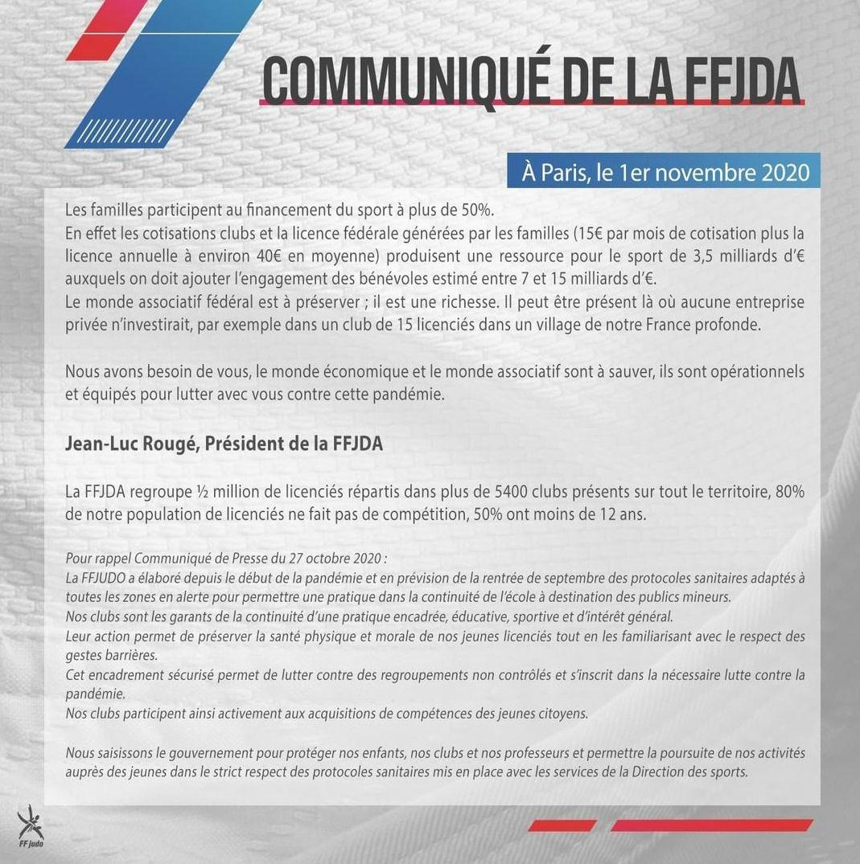 Communiqué de la fédération :...(