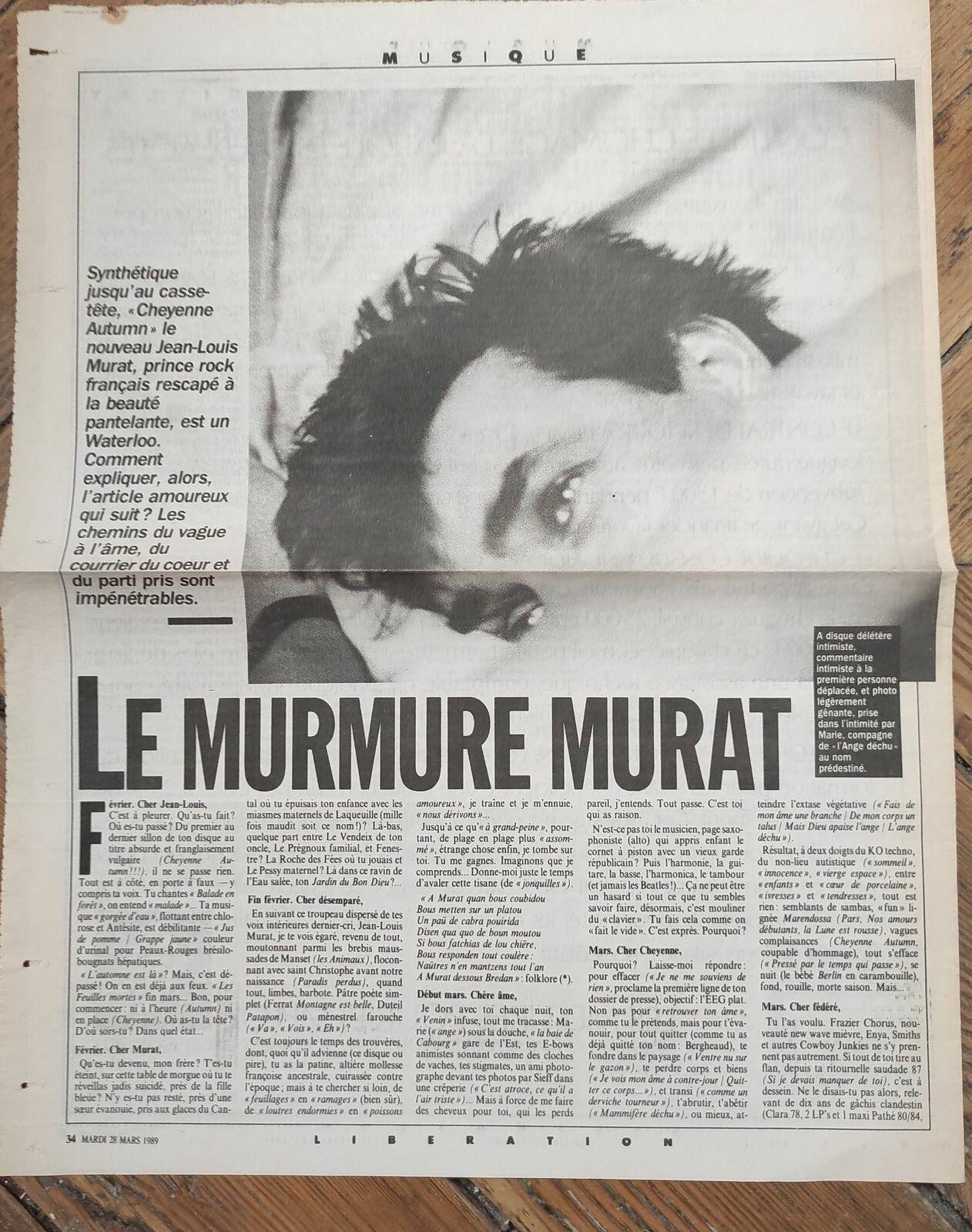 ARCHIVES! il y a 32 ans, Bayon dans Libération (Cheyenne autumn)