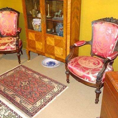Paire de fauteuils Palissandre Epoque Napoléon III