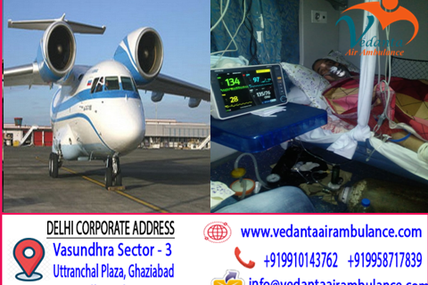 Protected Medical transport by Vedanta Air Ambulance Service in Guwahati