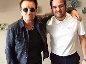 Bono et The Edge à Valence , Espagne 31/07/2016