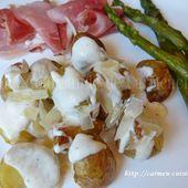 Pommes de terre primeur rôties à la sauce au parmesan - Cuisine gourmande de Carmencita