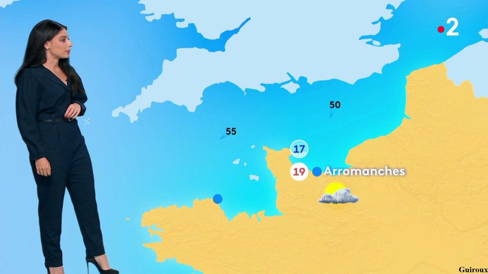 Virginie Hilssone-Lévy 29/08/2021 Journaux météo + météo des plages France 2