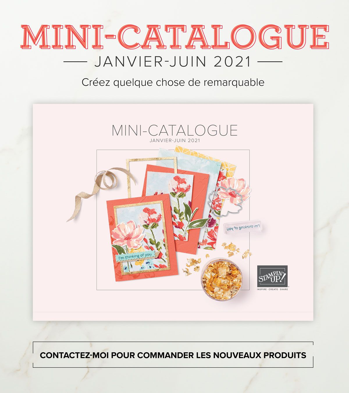 il est là!! le catalogue printemps/été 2021 stampin'Up!
