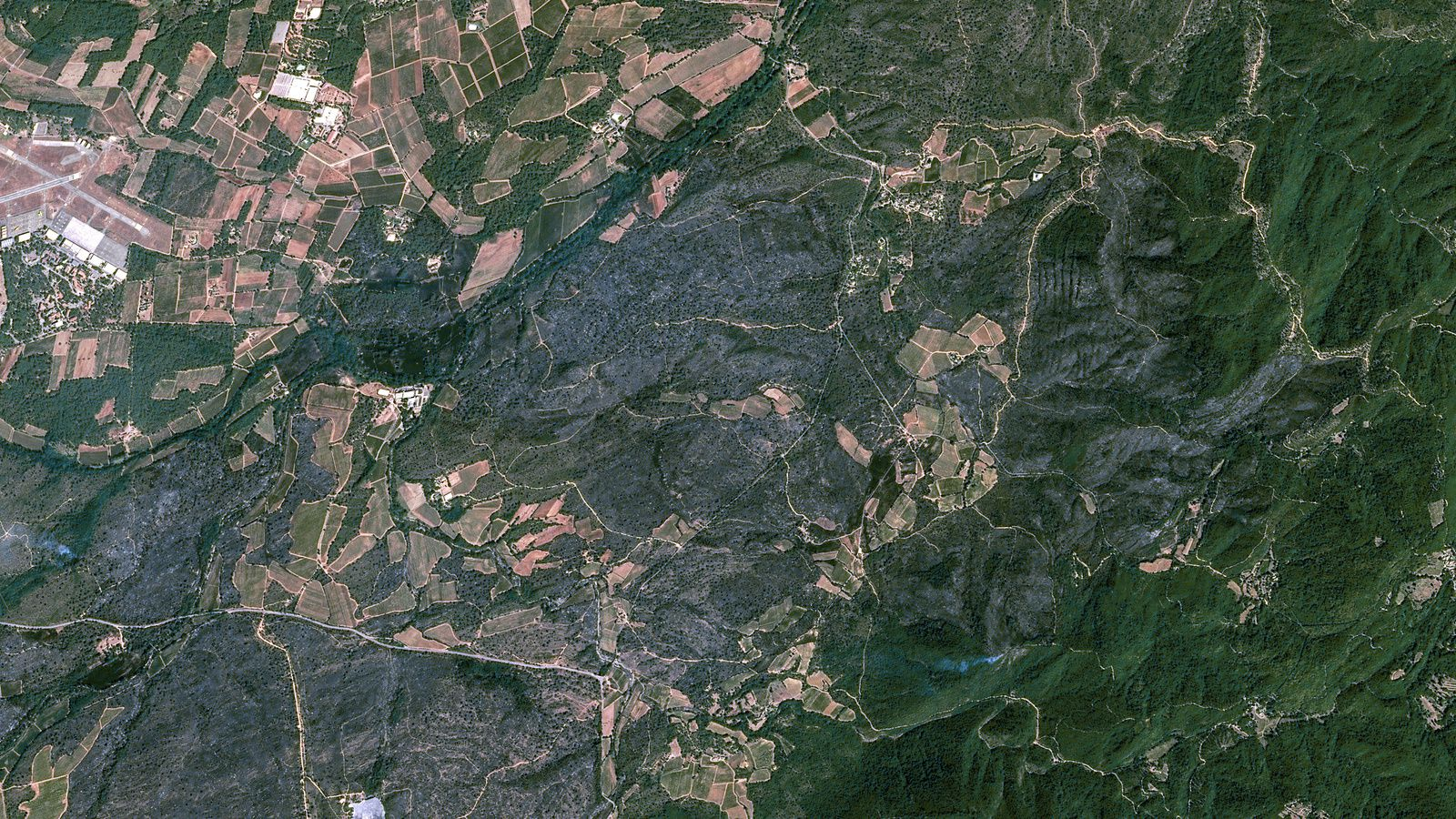 Incendie Var - Plaine des Maures - Satellite - SPOT 6 - Copernicus - Cartographie rapide - Emergency mapping - Airbus Defence and Space
