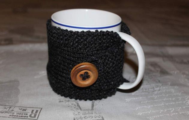 Cache tasse en tricot