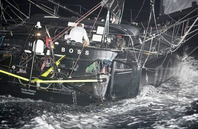 Skippers Alex Thomson and Neal McDonald arrive safely to the Cape Verde Islands onboard Hugo Boss boat