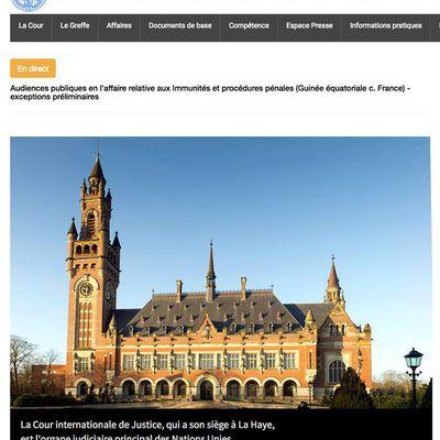 PARIS ACUSA A MALABO, ANTE LA CORTE INTERNACIONAL DE JUSTICIA, DE QUERER PARALIZAR A LA JUSTICIA FRANCESA.