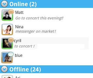 Messenger by Miyowa pour Android