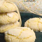 Craquelés au citron {Crinkles} - Les gourmands {disent} d'Armelle