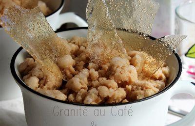 Granité Digestif - Café et Rhum Arrangé à la Vanille Bleue-