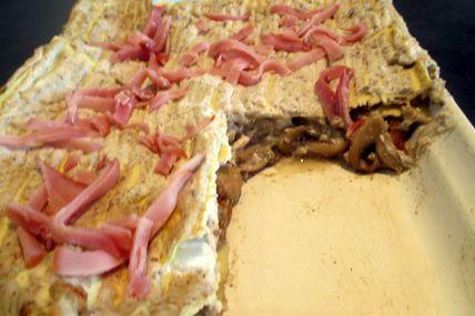 Lasagnes aux 2 champignons et bacon