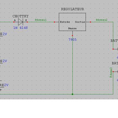 circuit avec les panneaux solaires