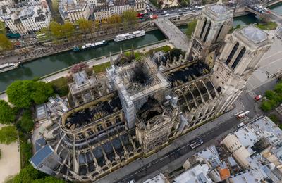 Découvrez la photo aérienne à 360° de Notre-Dame au lendemain de l'incendie