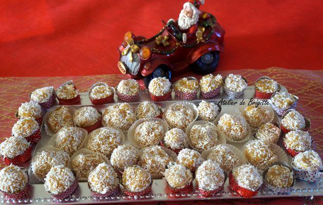 Bonbecks de Noël clémentines-amandes-noix de coco (bonbons)
