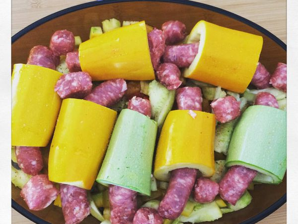 Hot-dog de courgettes