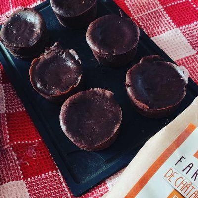 Coeurs coulants chocolat à la farine de châtaigne au cake factory sans gluten.