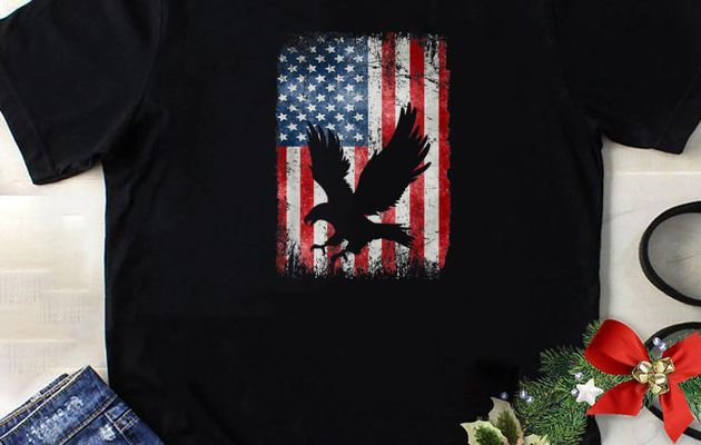 Hot Independence Day Patriotic Eagle 4Th Of July American Flag shirt