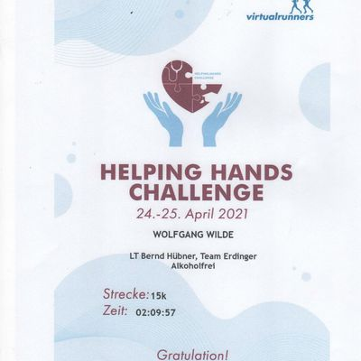 Helping Hands Challenge 24. April 2021