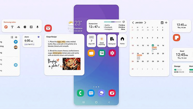 One UI 4.0 base sur Android 12