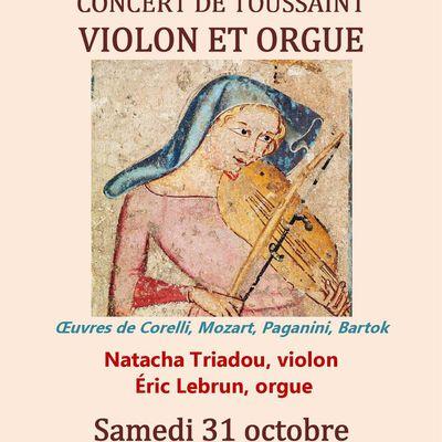 Concert de Toussaint : violon et orgue à Saint-Antoine des Quinze-Vingts Paris 12e