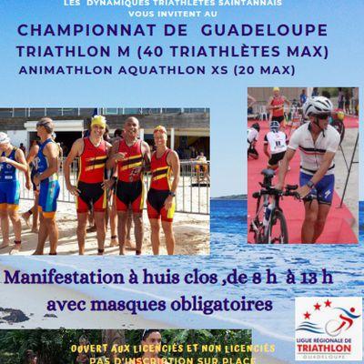 Championnat de Guadeloupe de Triathlon à St Anne