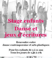 Stage enfants danse et jeux d'écritures