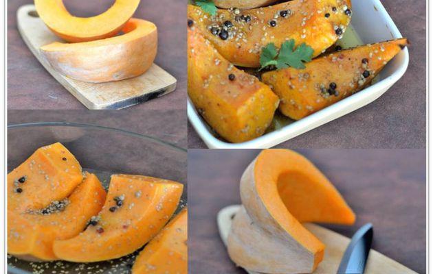 Courge rôtie au miel et épices