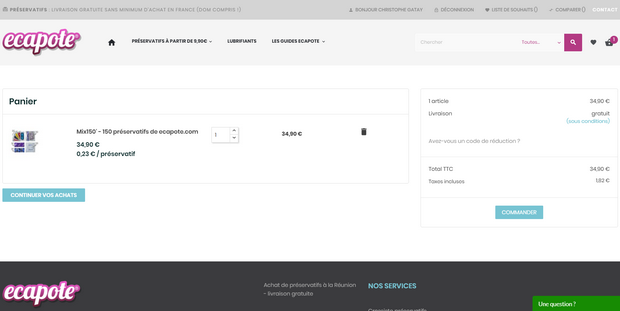 captures d'écran du site ecapote.com (tous droits réservés) et photos de la réception des préservatifs @ Tests et Bons Plans