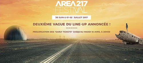 AREA217 | La deuxième vague du line-up