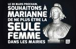 Souhaitons à Marianne de ne plus être la seule femme dans les mairies le 30 mars prochain