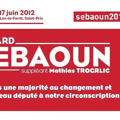 Le site de campagne de Gérard Sebaoun pour les élections législatives