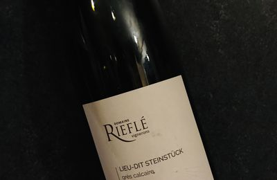 Alsace Steinstuck riesling 2017 Domaine Rieflé