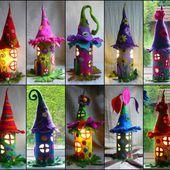 Fantastic Cardboard Tube Fairy Houses