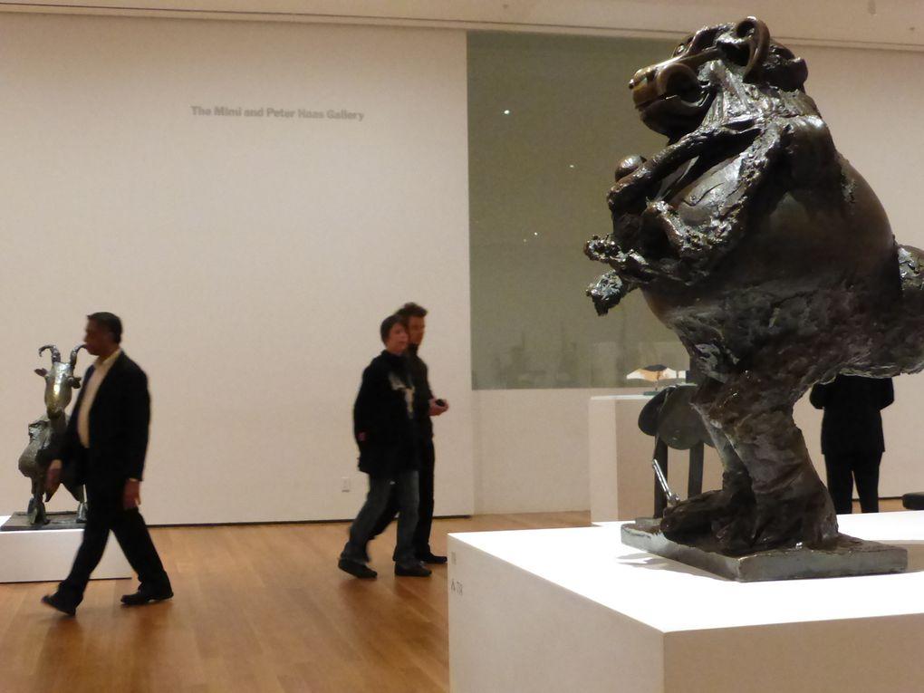 """Salle """"Vallauris et Cannes (1952-1958). Vallauris and Cannes assemblages"""". Exposition Picasso Sculpture, MoMA, New York © Le Curieux des arts Gilles Kraemer, New York, décembre 2015"""