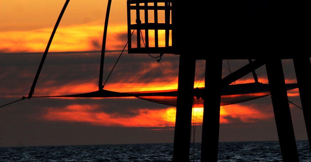 Coucher de soleil plage de Tharon - Photos Thierry Weber Photographe de Mer La Baule Guérande
