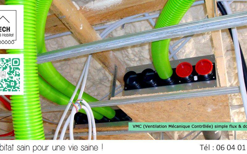 Tech Sante Habitat : Installer une VMC simple flux & double flux dans ma maison