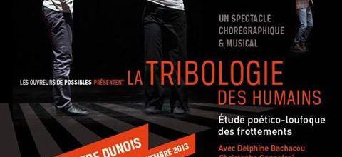 """16 novembre 2013 - Conférence au Théâtre Dunois - """"La tribologie des humains"""" - Paris"""