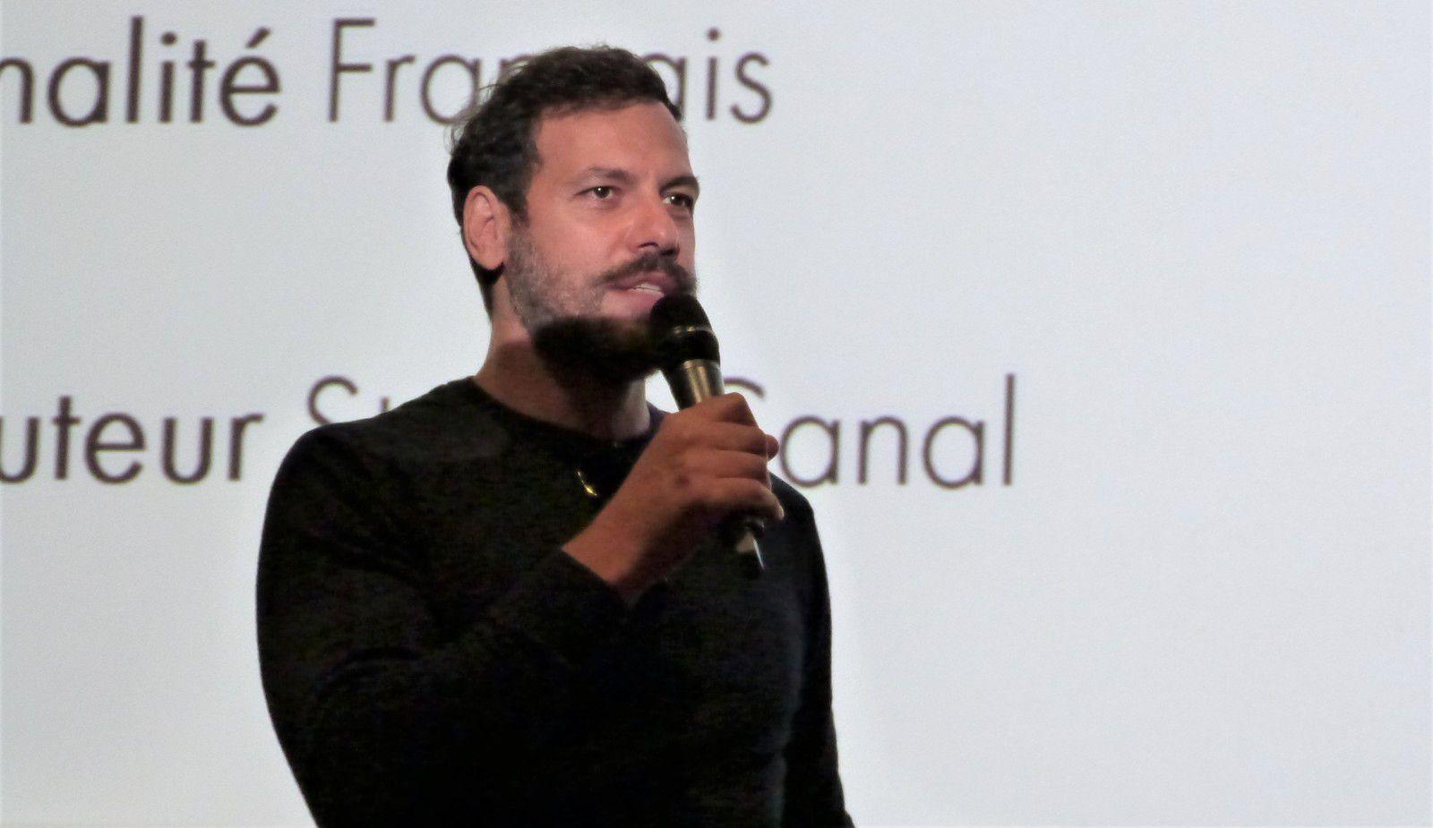 """Laurent Lafitte, de la Comédie Française, venu présenter son film """"l'Origine du monde"""""""