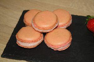 Exemple : La ganache a servi pour des macarons fraises