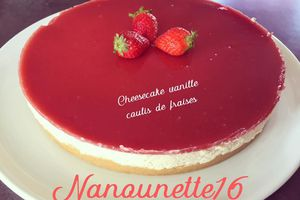 Cheesecake vanille au coulis de fraises - Thermomix