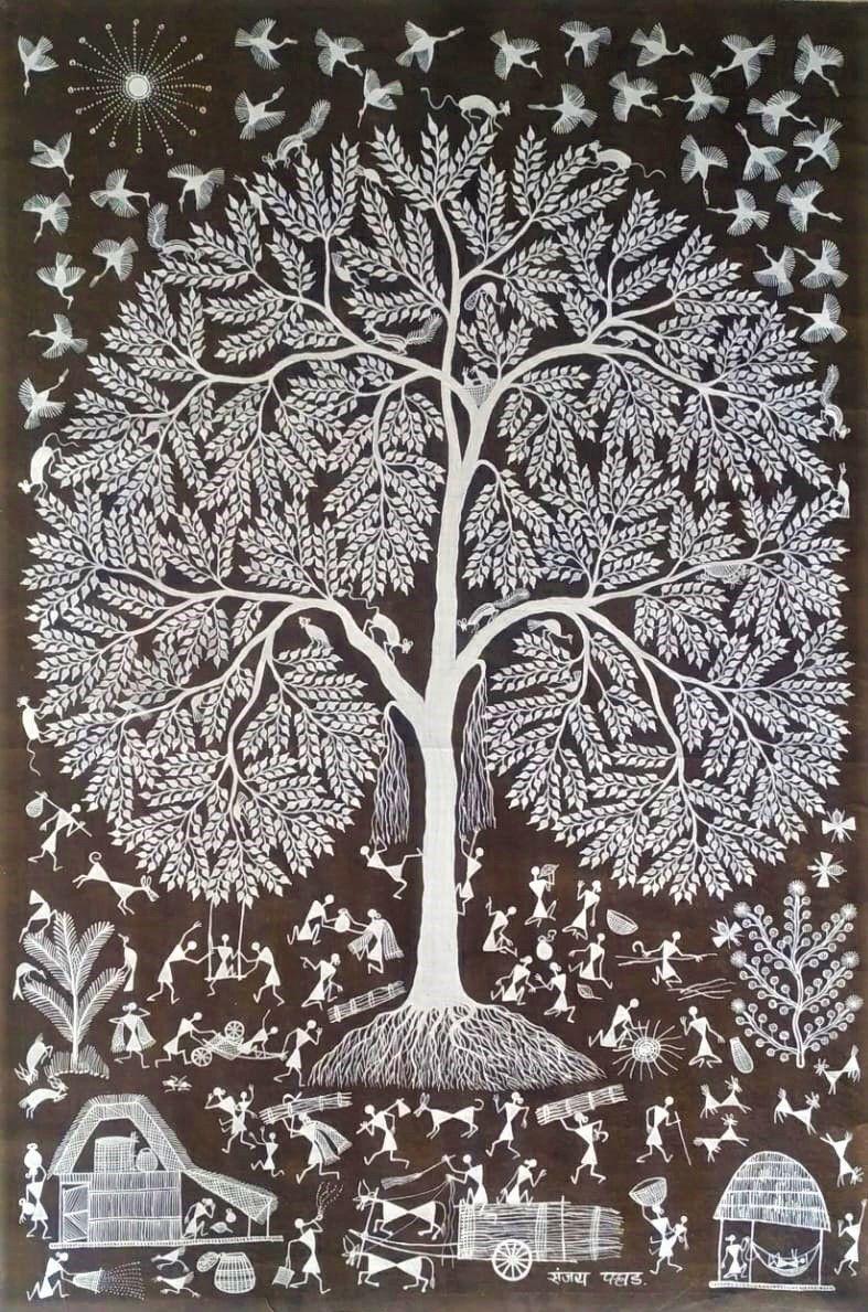 Art Warli, Mère Nature, art contemporain