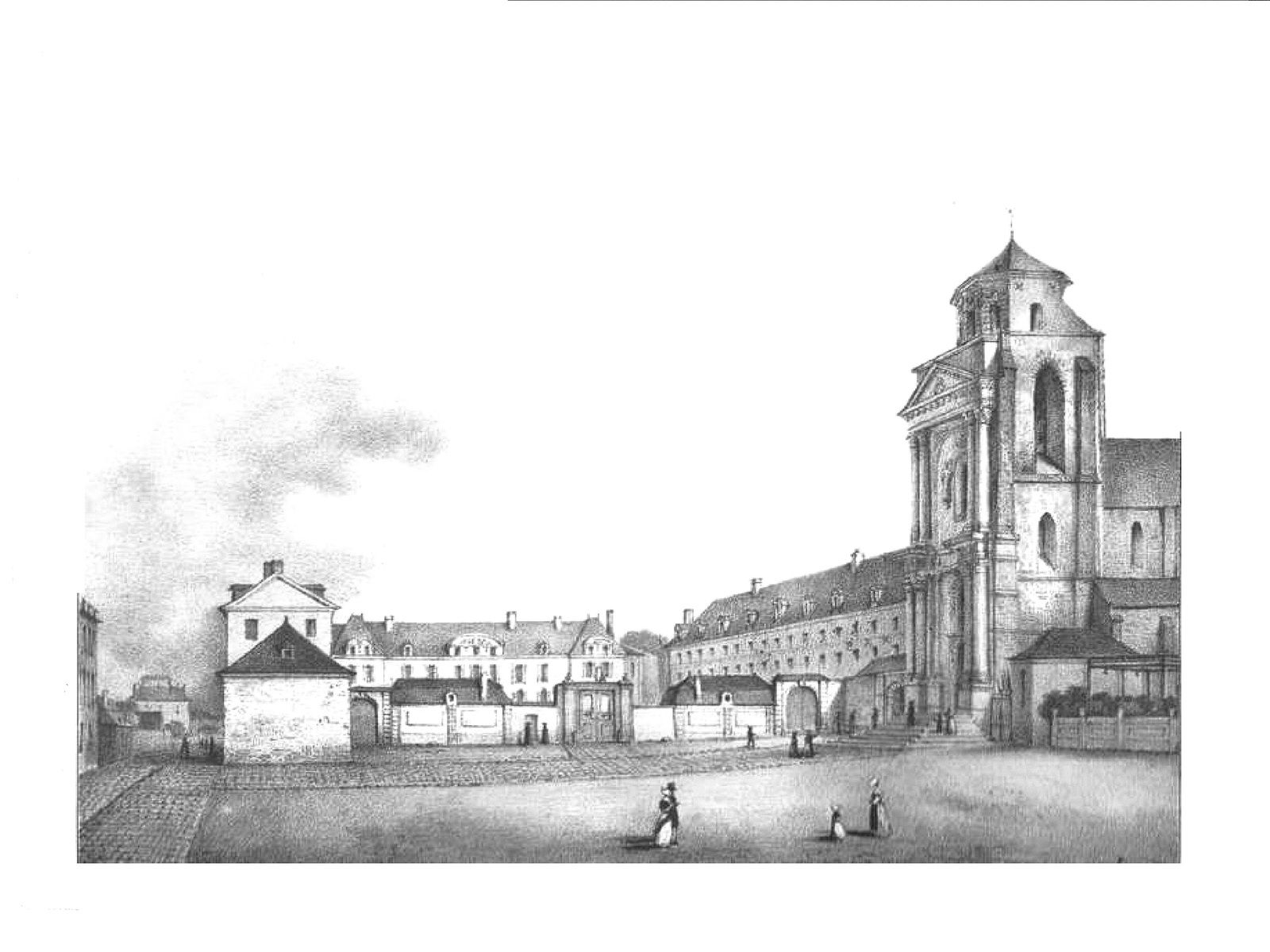 L'abbaye Saint-Melaine.
