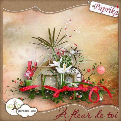 "Mini kit ""A fleur de toi "" de Paprika"